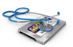 Ssd and stethoscope Royalty Free Stock Photos