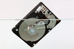 Hard disk in the water Royalty Free Stock Photography