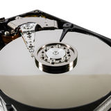Hard disk  on a white background Stock Photography