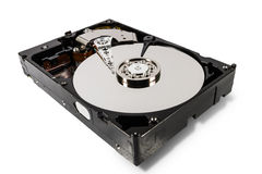 Hard disk  on a white background Royalty Free Stock Image