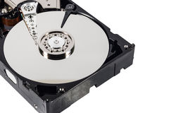 Hard disk  on a white background Stock Image