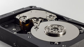 A hard disk on a white background Royalty Free Stock Photo