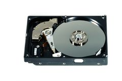 Hard disk for computer on  white background. Hard disk  on a white background Royalty Free Stock Image