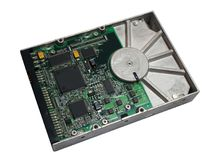 Hard disk on white. View of Hard disk on white Royalty Free Stock Photos