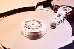 Hard diskdrive reading head royalty free stock photos