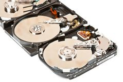 Hard disks Royalty Free Stock Photo