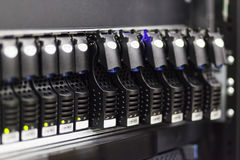 Hard disks drive in the storage system Stock Photography
