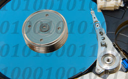 Hard drive from within. The digital carrier for information storage Royalty Free Stock Photo