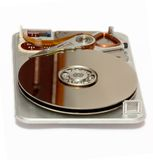 Hard Drive. An open computer hard disk royalty free stock image