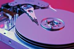 Hard drive. Opened hard drive close-up Stock Photo