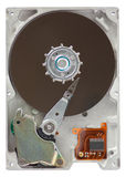 Hard drive. Close-up of hard disk isolated on white background royalty free stock photo