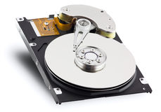 Hard drive. Hard disk isolated on white background stock photography