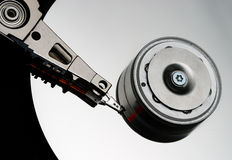Hard drive. Close-up image of its inside Stock Images