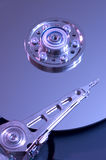 Hard Drive. Hard disk drive closeup in a blue light royalty free stock image