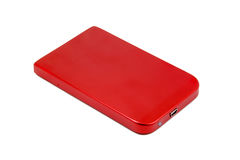 Hard Drive. Portable Hard Drive red color Royalty Free Stock Photography