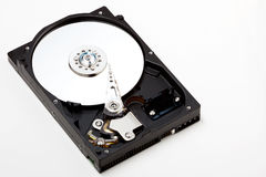 Hard Drive. Top down view of hard drive on a white background stock image