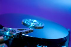 Hard drive. Hard disk drive. Focused on heads Stock Image