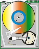 Hard drive. Abstract vector illustration of hard drive Stock Photos