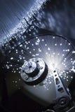 Hard drive. Optical fiber floodlight Royalty Free Stock Photos