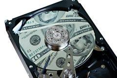 Free Hard Drive And Dollars Royalty Free Stock Image - 28004186