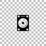 Hard drive icon flat vector illustration