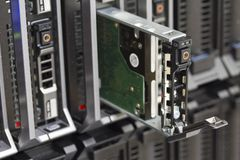 Hard Drive in Blade Server Royalty Free Stock Photography