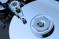 Hard Drive in blue Royalty Free Stock Photo