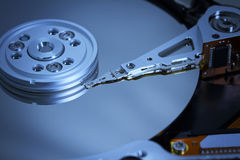 Hard drive in blue light Stock Photography