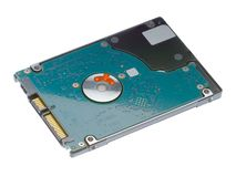 Hard drive bottom view with connectors royalty free stock image