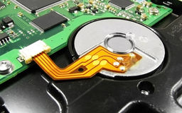 Hard drive circuit 3. Macro shoot of a hard drive circuit Royalty Free Stock Photo
