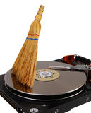 Hard drive cleaning Stock Images