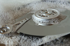 Hard drive cleaning Royalty Free Stock Photography