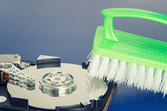 Hard drive cleansing Royalty Free Stock Photography