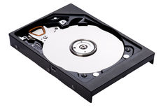 Hard drive close up Royalty Free Stock Image