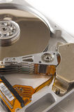 Hard drive close-up. Isolated Stock Image