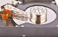 Hard drive close up Stock Photo
