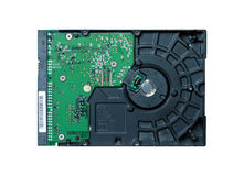 Hard drive closeup Stock Images