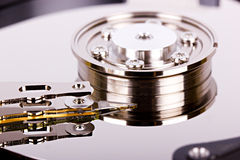Hard drive closeup Royalty Free Stock Photography