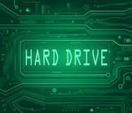 Hard drive concept. Royalty Free Stock Photography
