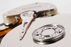 Hard drive detail Stock Photo