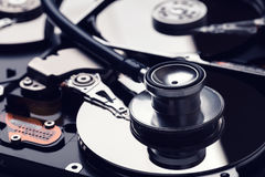 hard drive diagnostics and digital data recovery service Stock Photos
