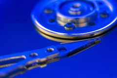 Hard drive disc macro view Royalty Free Stock Image