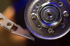 Hard drive disc macro view Stock Photos