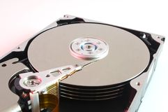 Hard drive disk. Inside of scsi hard drive stock photo