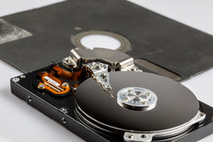 Hard drive disk and diskette Royalty Free Stock Photography