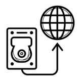 Hard drive disk icon vector illustration