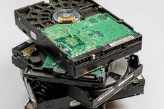 hard drive disk stack Stock Photography