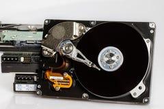 Hard drive disk stack Stock Image