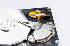 Hard drive disk. With white background closeup Stock Image
