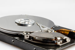 Hard drive disk. With white background closeup Royalty Free Stock Photo